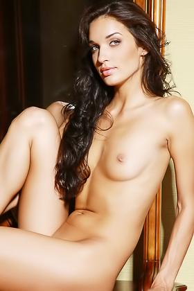 Brunette Enjoys Her Naked Body